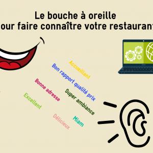 Faire connaître votre restaurant par le bouche à oreille