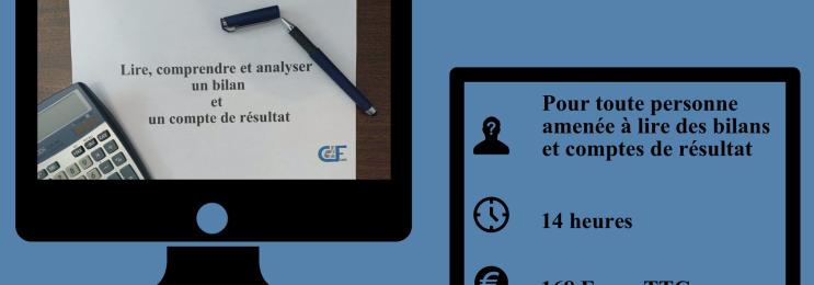 Formation : Lire, comprendre et analyser un bilan et un compte de résultat